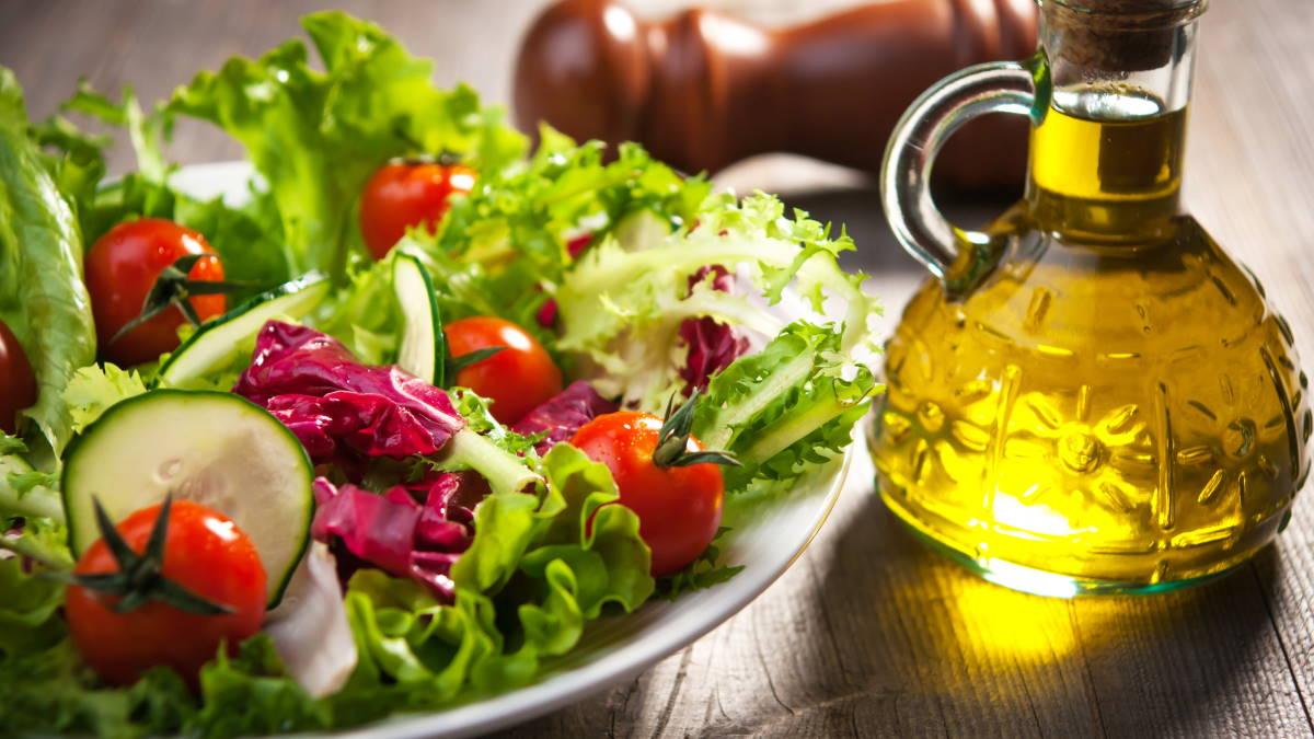 овощной салат масло