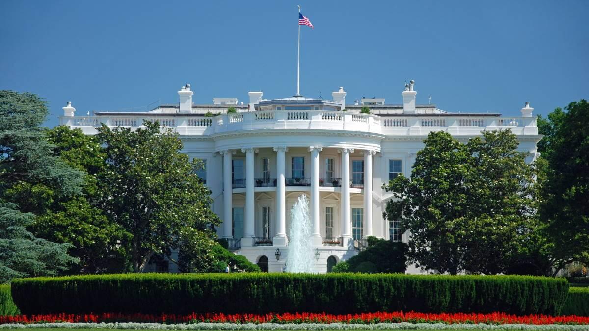 США Белый дом в Вашингтоне
