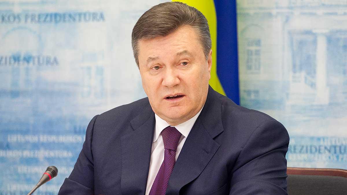 Экс-президент Украины Янукович говорит