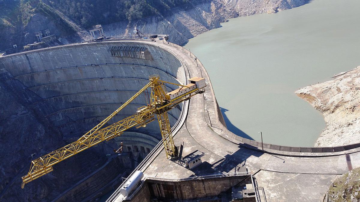 Ингурская ГЭС Гидроэлектростанция в Грузии