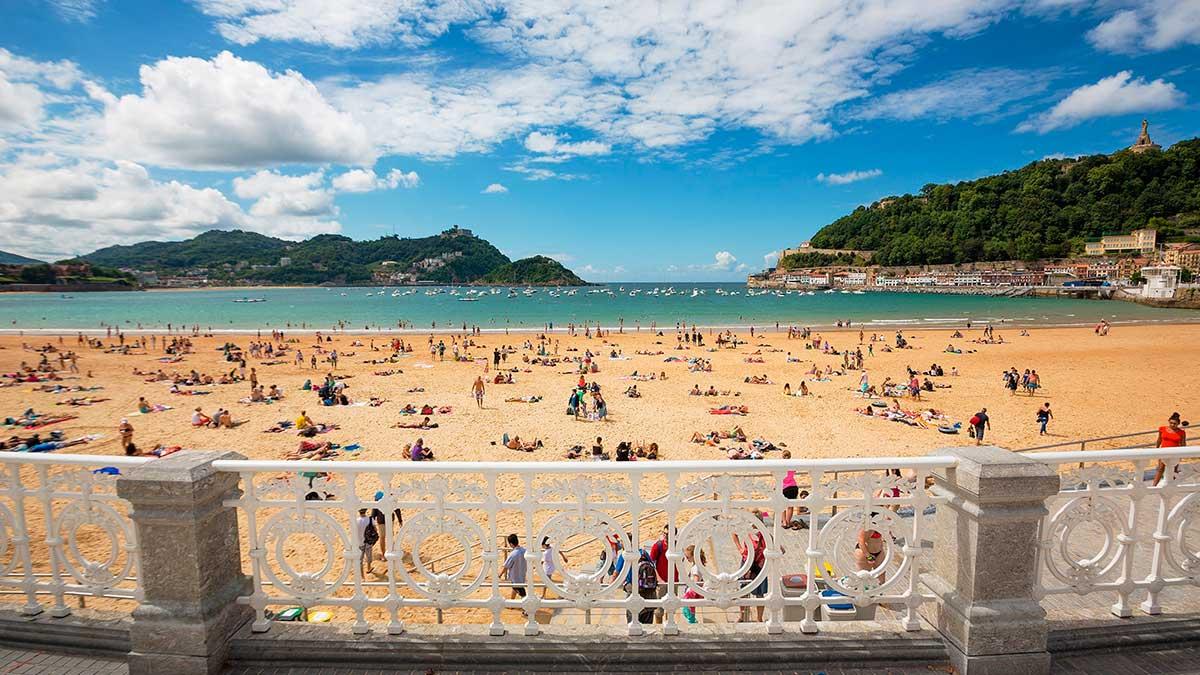 Испания пляж Сан-Себастьян