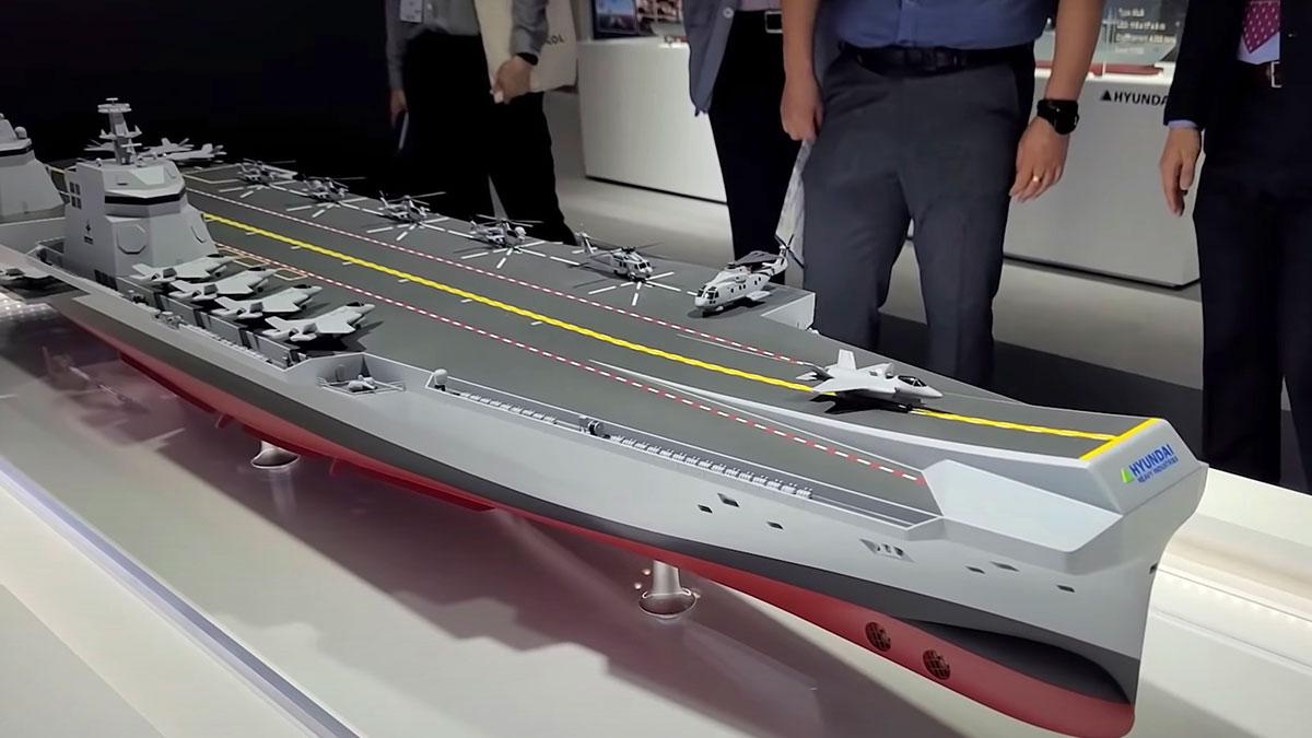 Hyundai Heavy Industries продемонстрировала на выставке MADEX-21 концепт авианосца