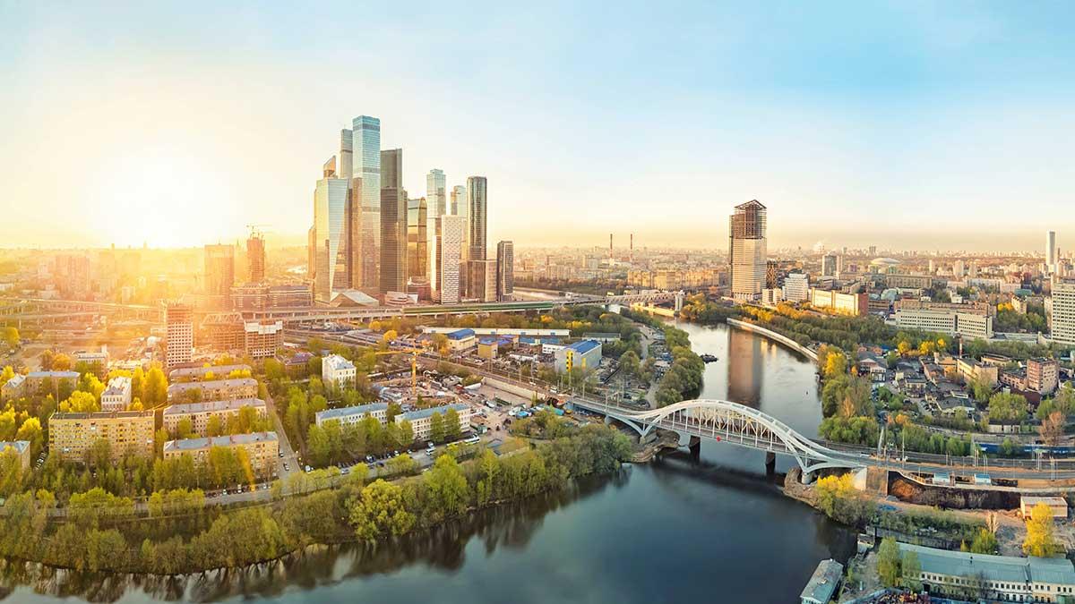 Москва красивый фон