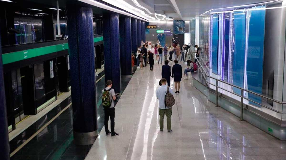 Открытие станции метро Зенит
