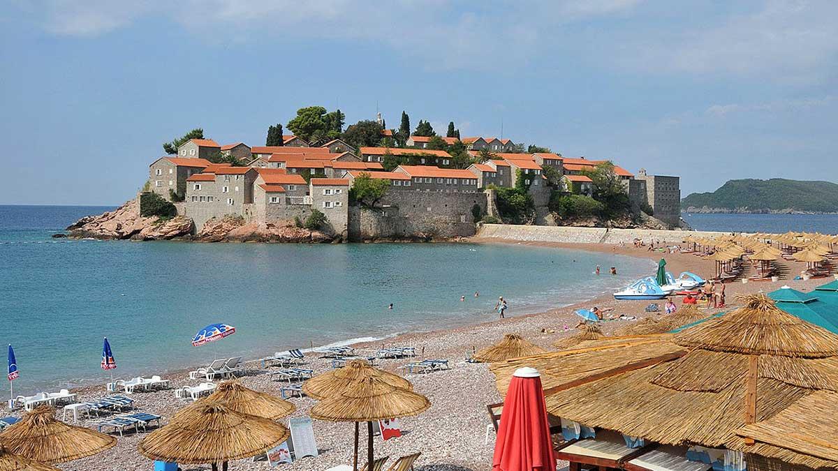 Пляж Свети Стефан Черногория