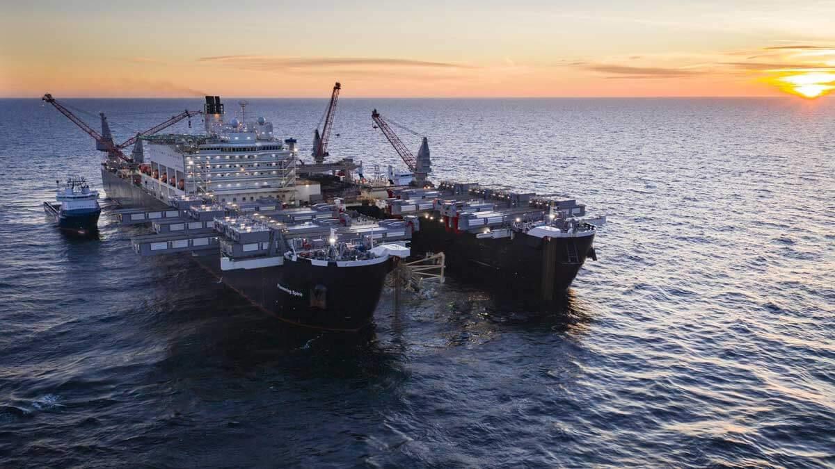 Порт Мукран Черский Nord Stream 2 Allseas