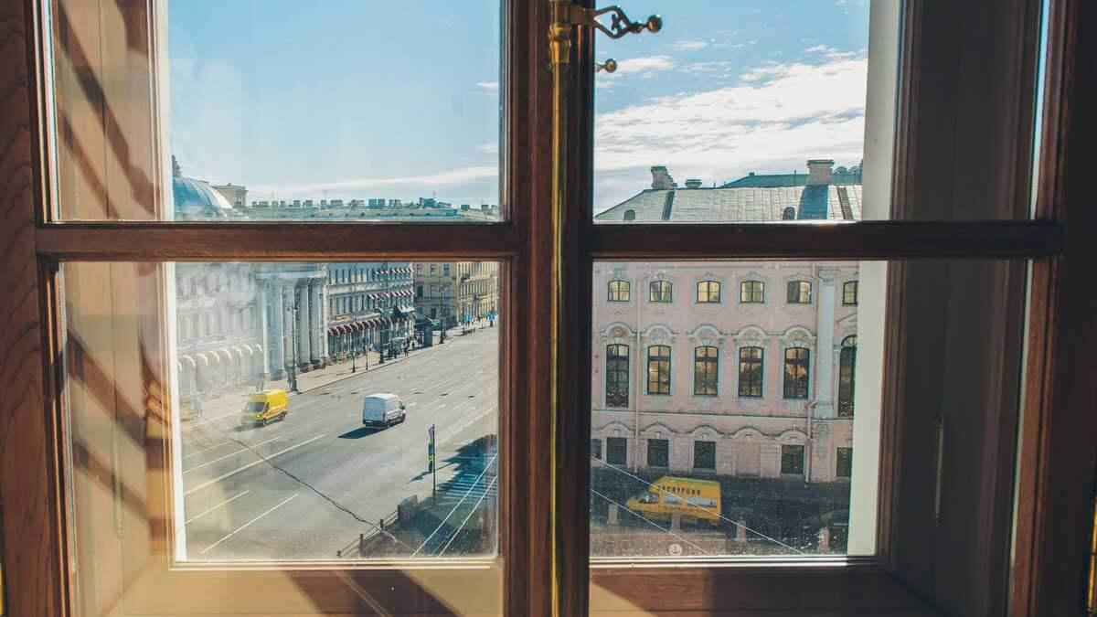 Санкт-Петербург вид из окна