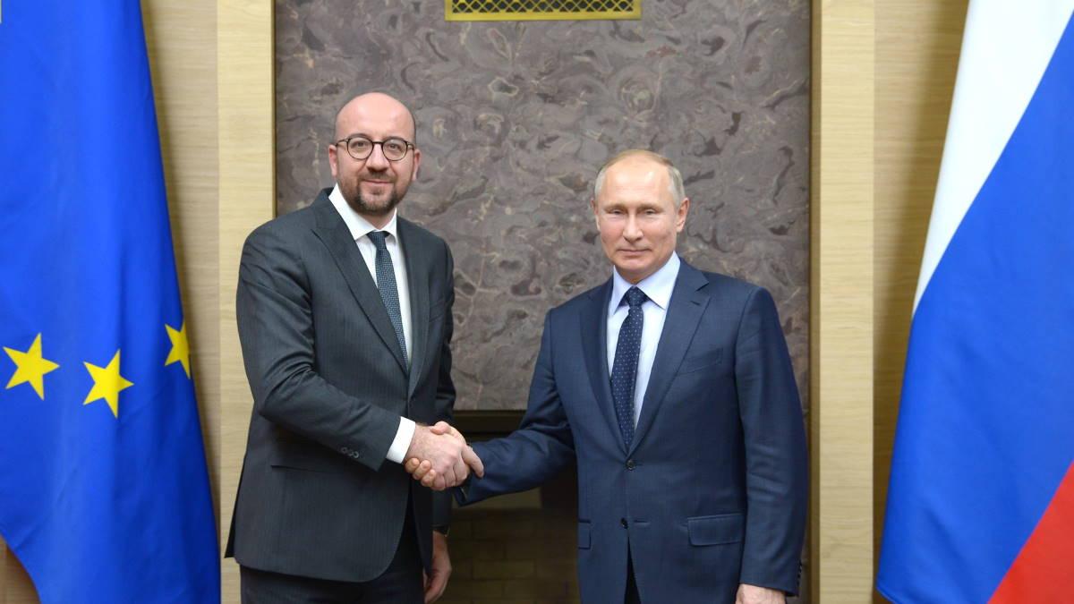 Шарль Мишель и Владимир Путин