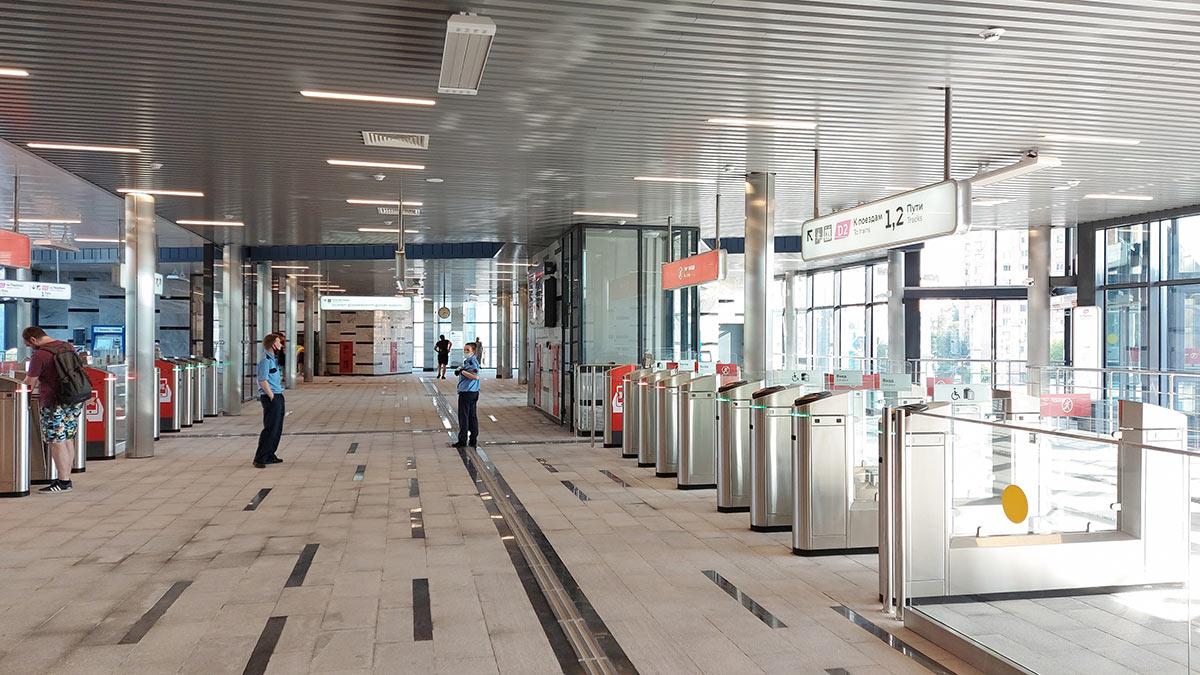 Новая платформа «Щукинская» второго маршрута Московских центральных диаметров (МЦД-2)