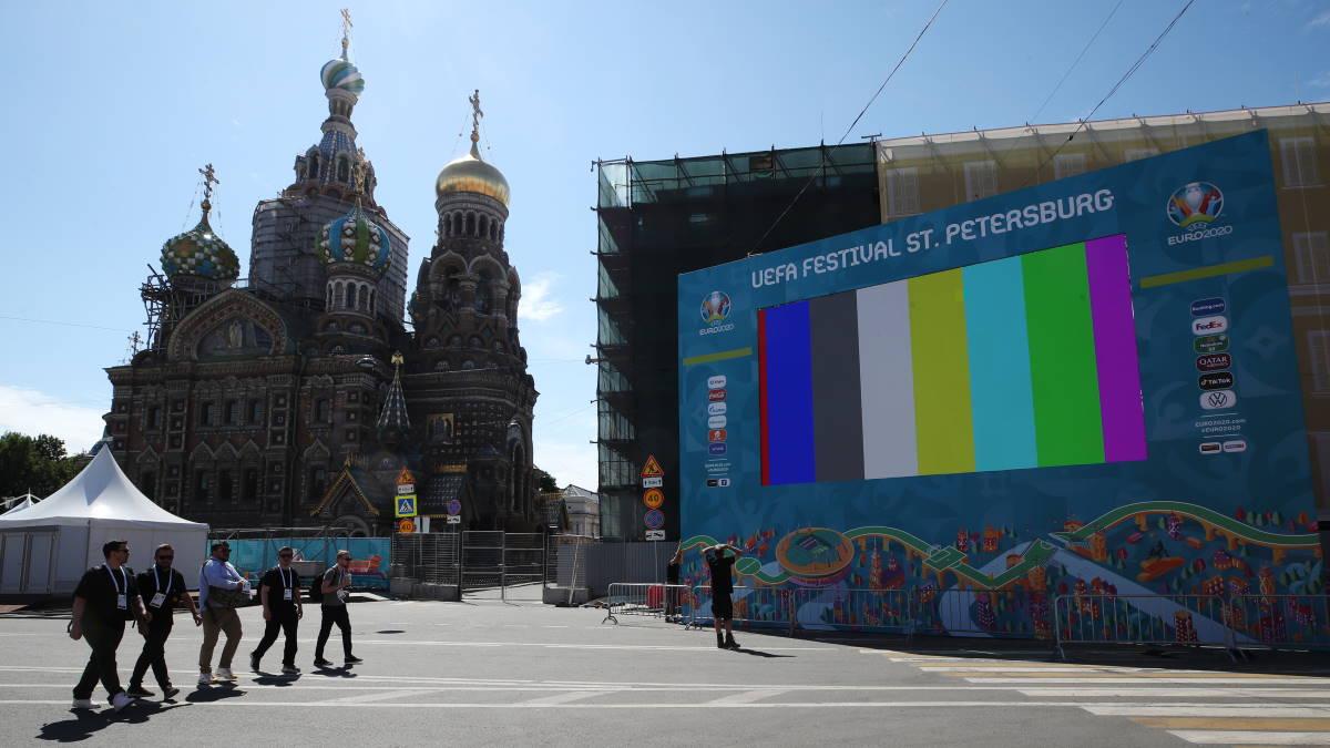 Санкт-Петербург фан-зона чемпионата Европы по футболу