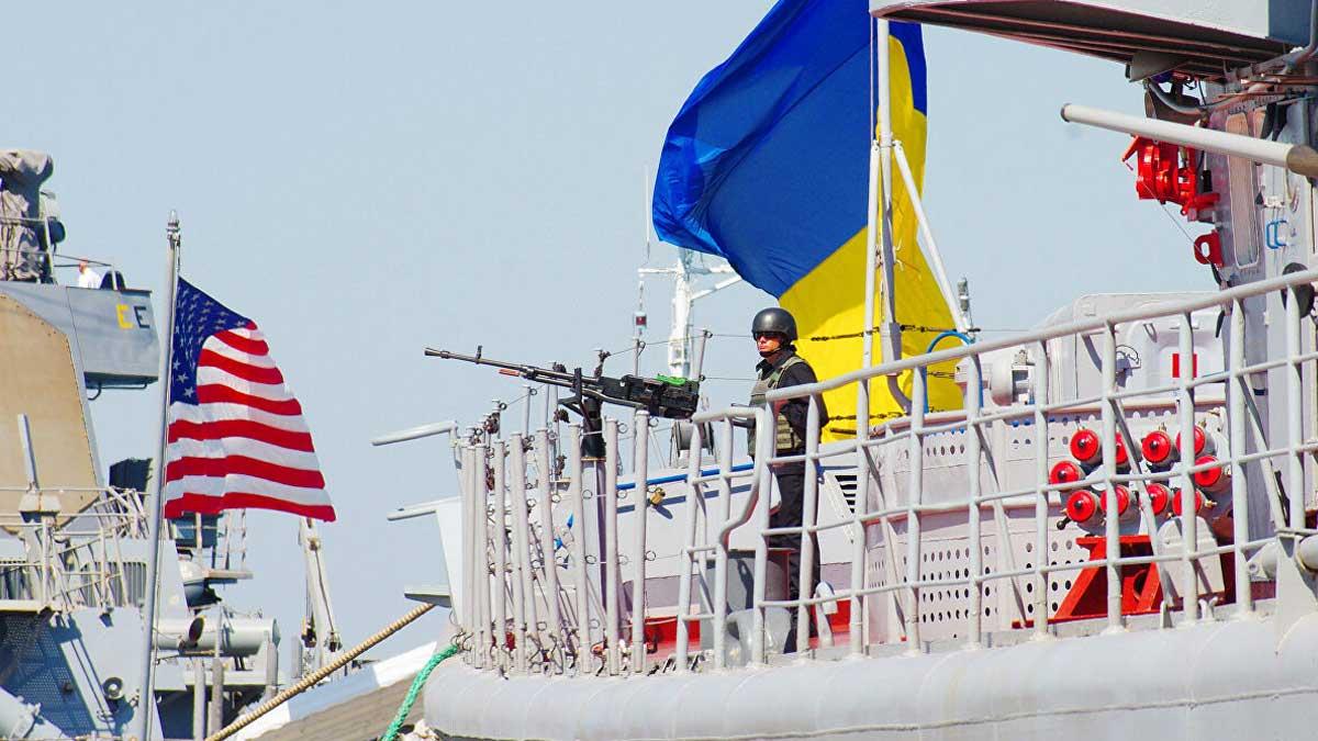 Учения черное море Украина США