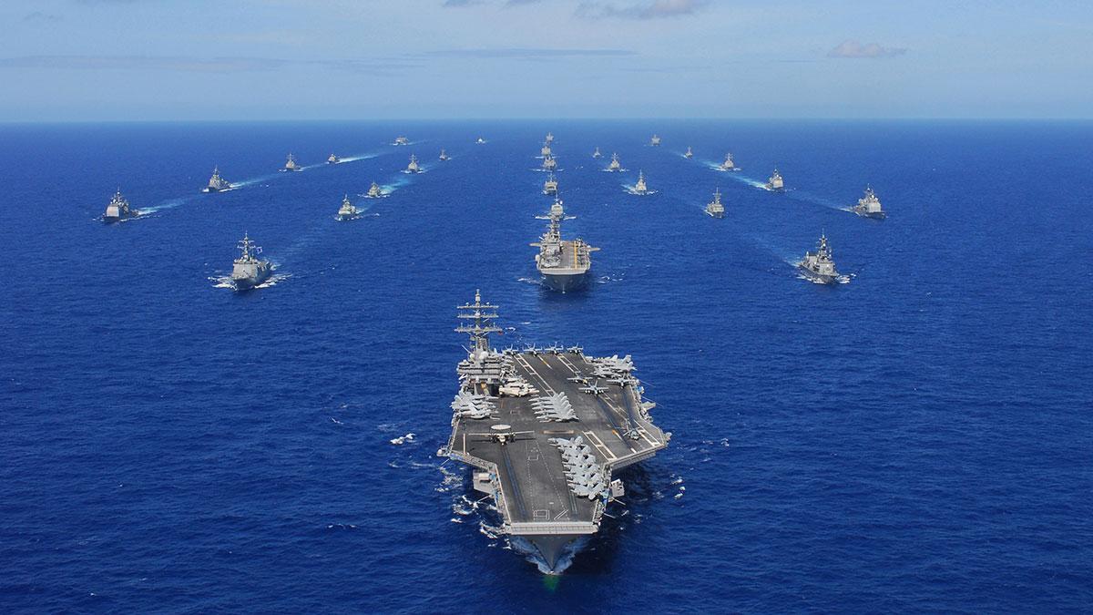 флот ВМС США боевые корабли учения