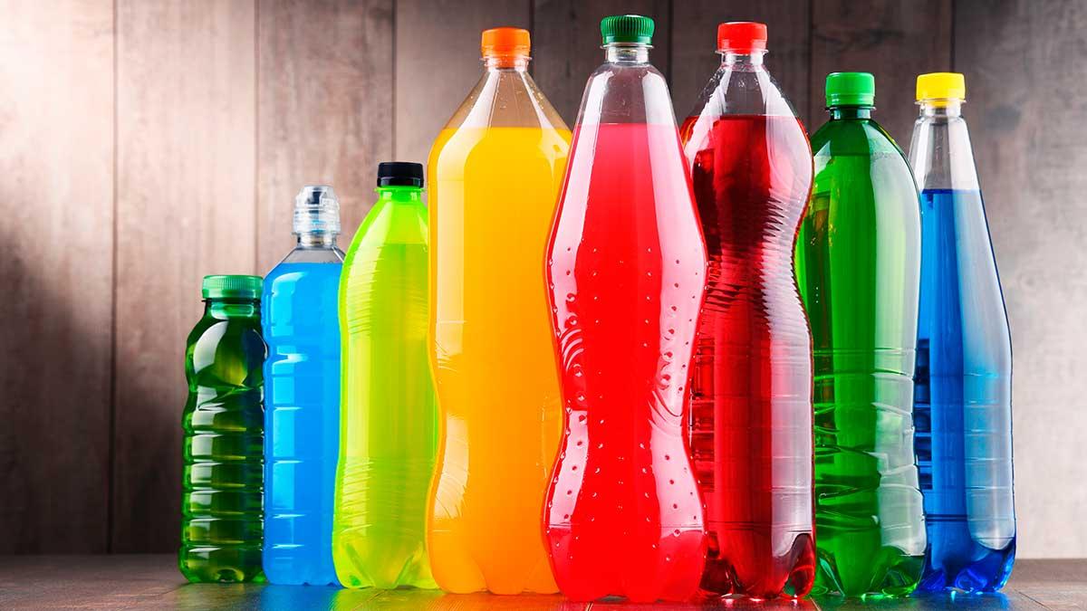 бутылки яркие цвета