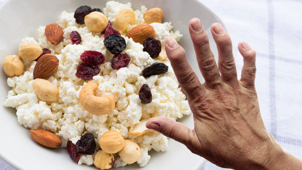 рука артрит и творог с орехами