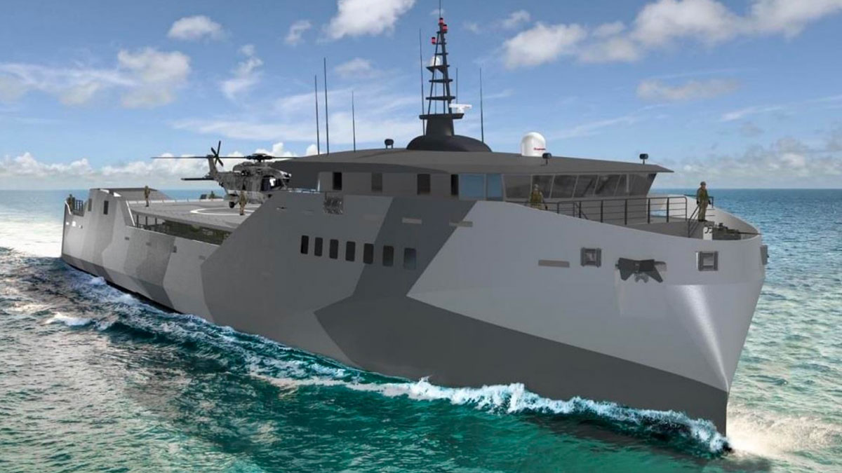 проект десантного корабля Light Amphibious Warship