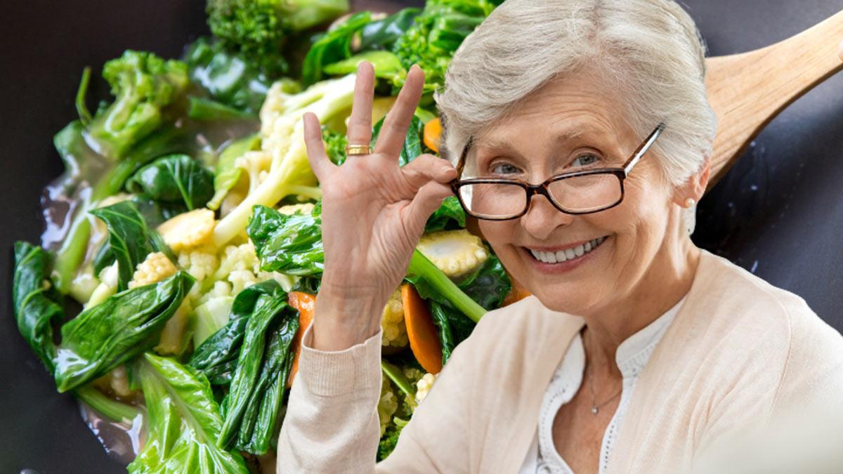 женщина в возрасте овощная диета
