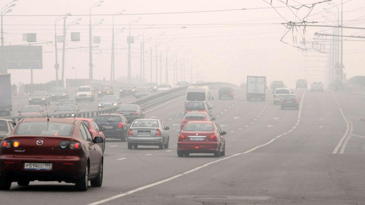 движение трафик автомобили смог выхлопные газы