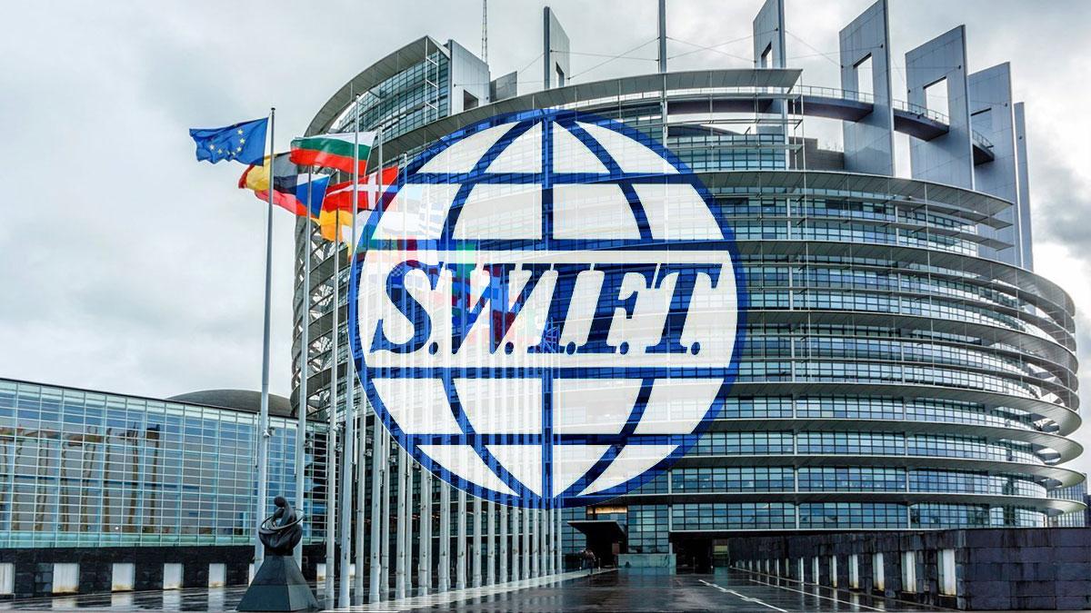 европарламент и логотип Swift