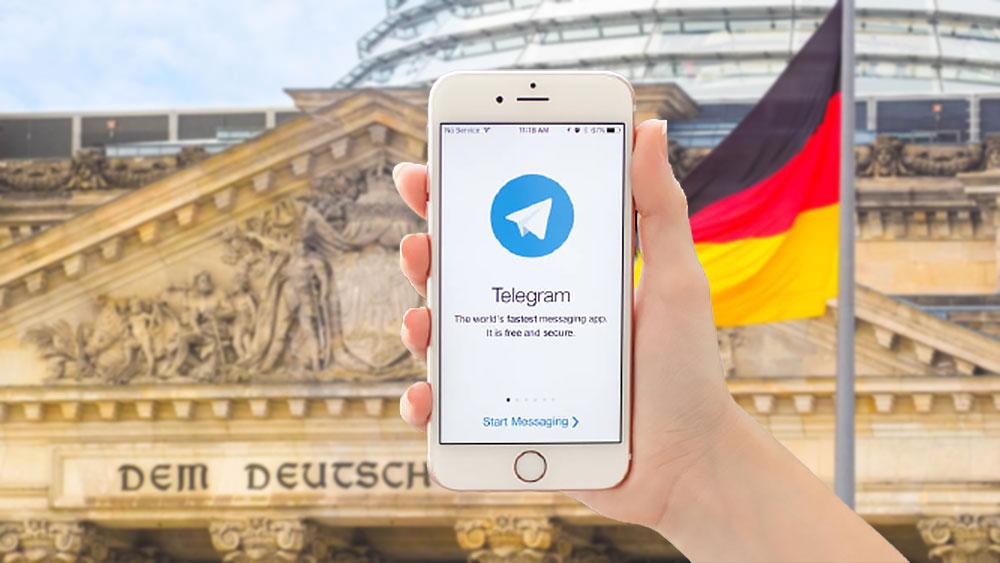 Власти ФРГ германия ждут Telegram на экрание телефона