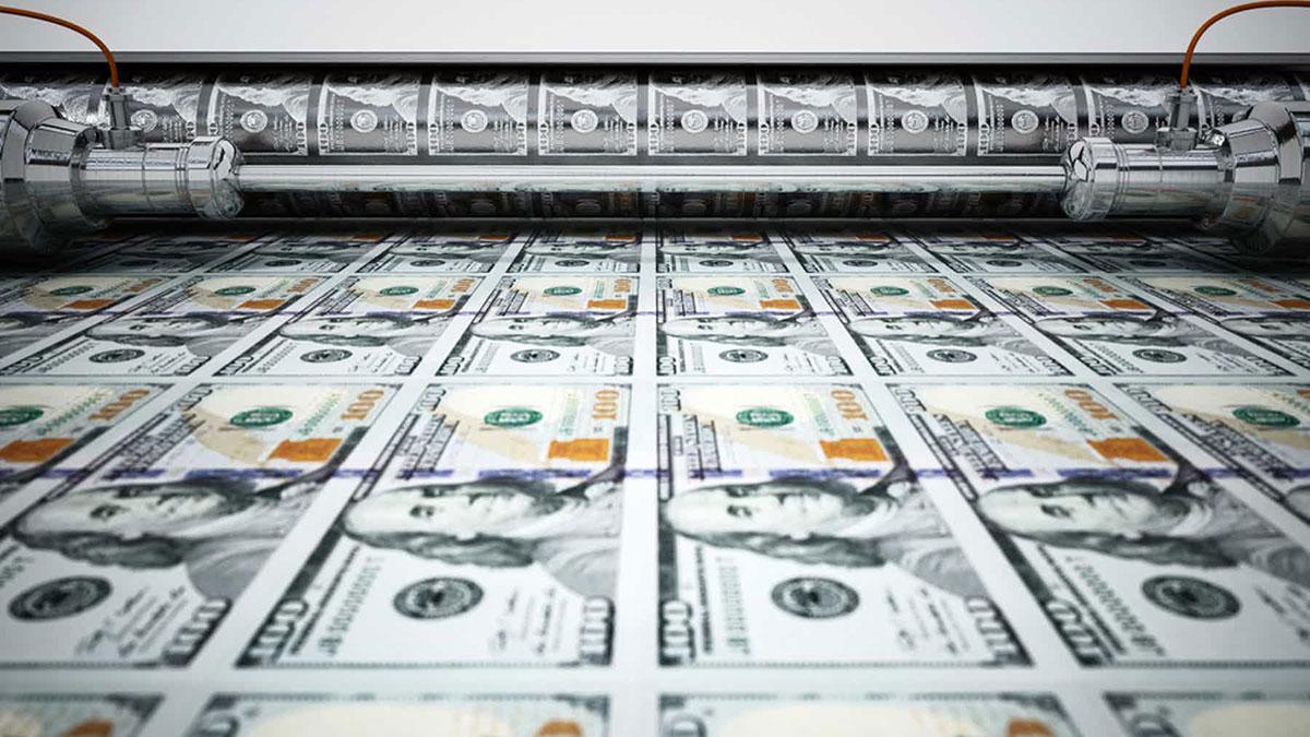 печатный станок долларовых купюр инфляция в сша