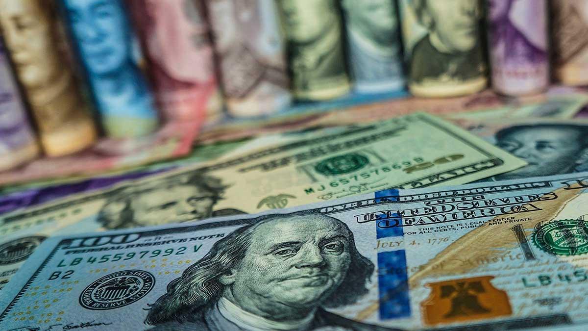 купюры доллары валюта