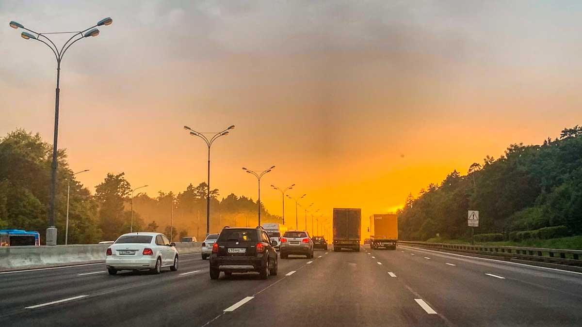 машины трасса дорога солнце