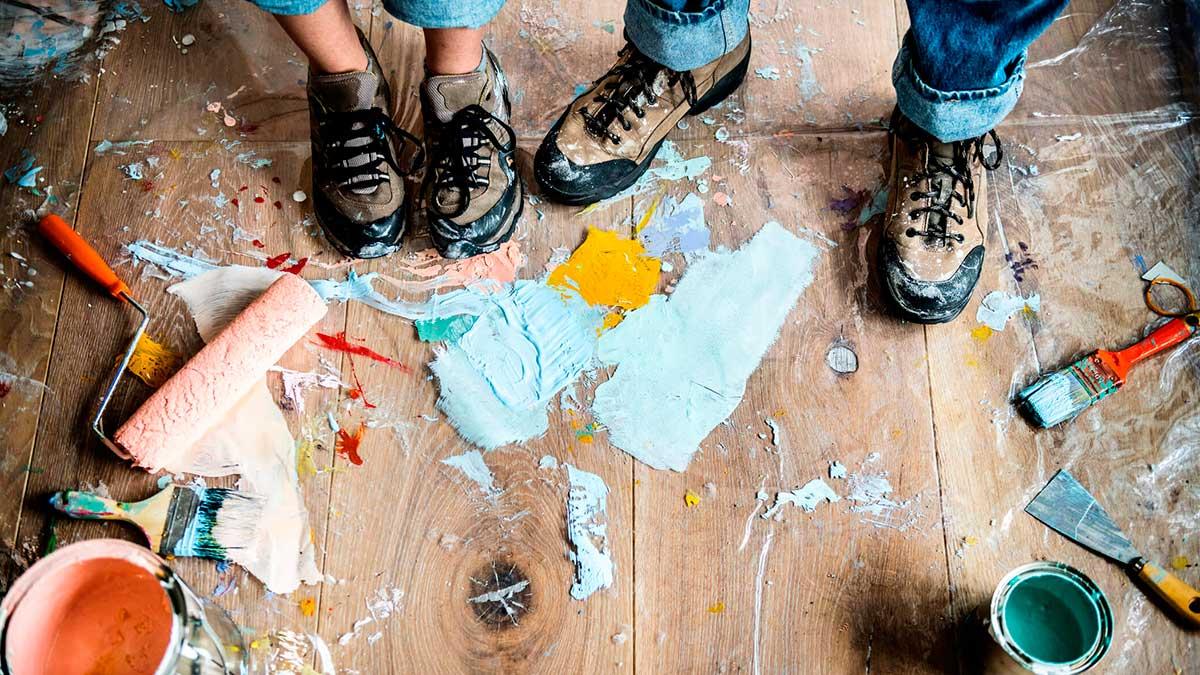 мужчина женщина ремонт квартиры