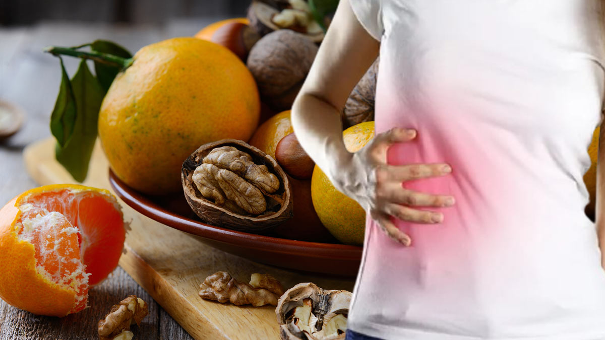 орехи цитрусы мандарины болит печень