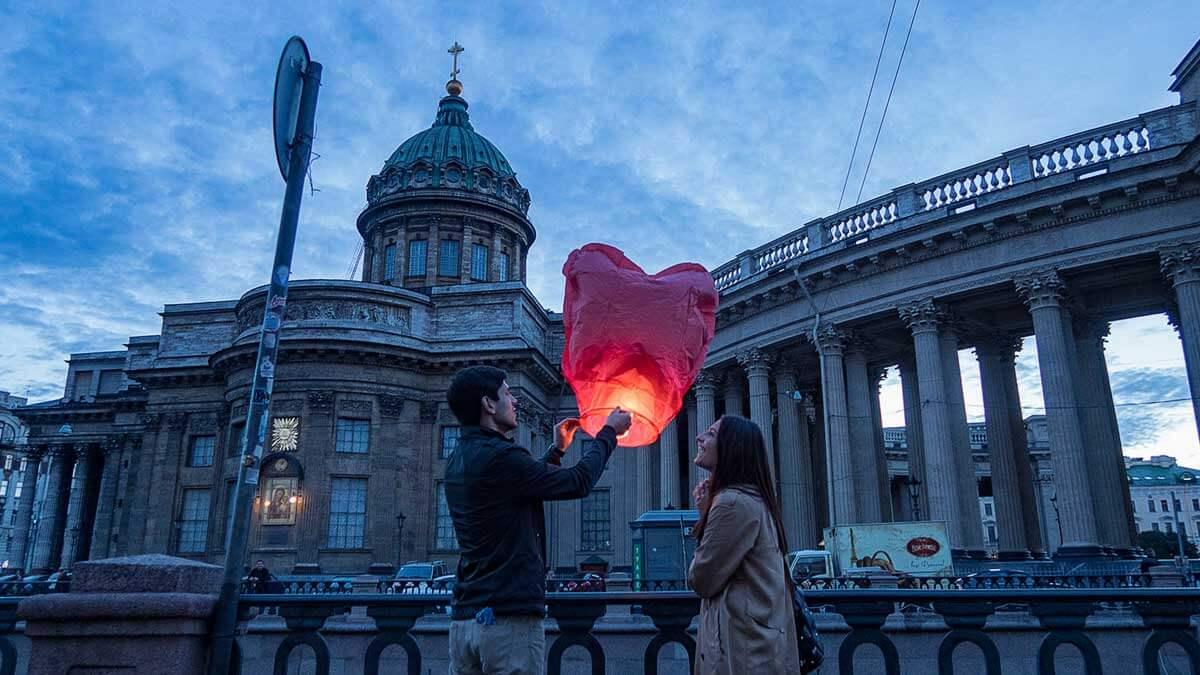 парень девушка запускают сердце Санкт-Петербург