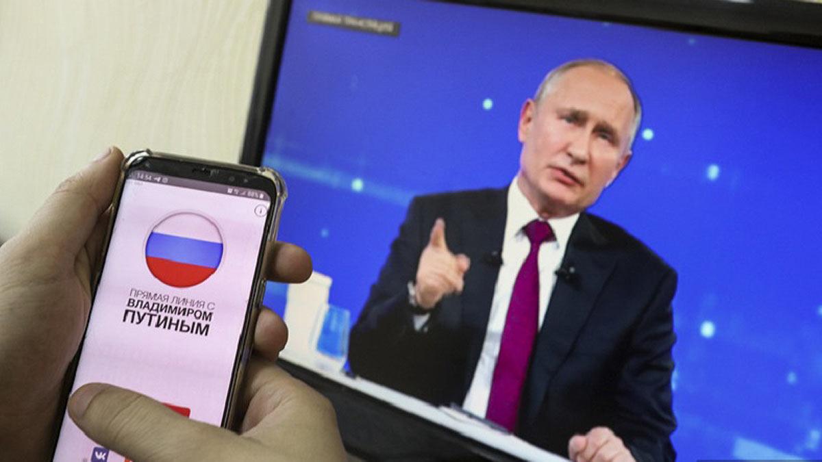 прямая линия Владимир Путин телефон телевизор