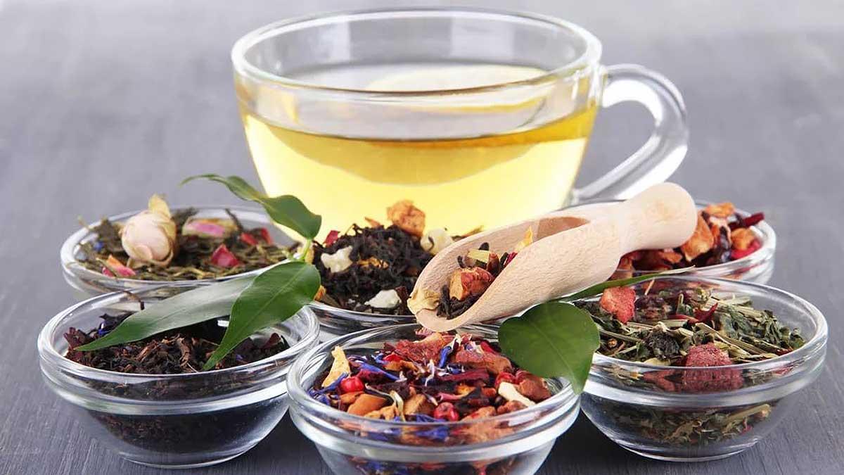 разные травы и чай
