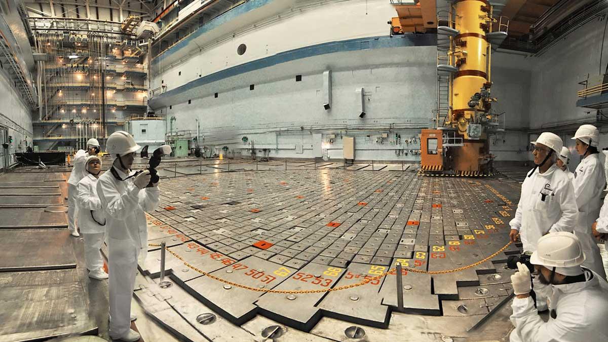 реакторный зал аэс
