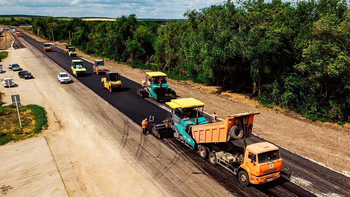 ремонт дороги асфальт