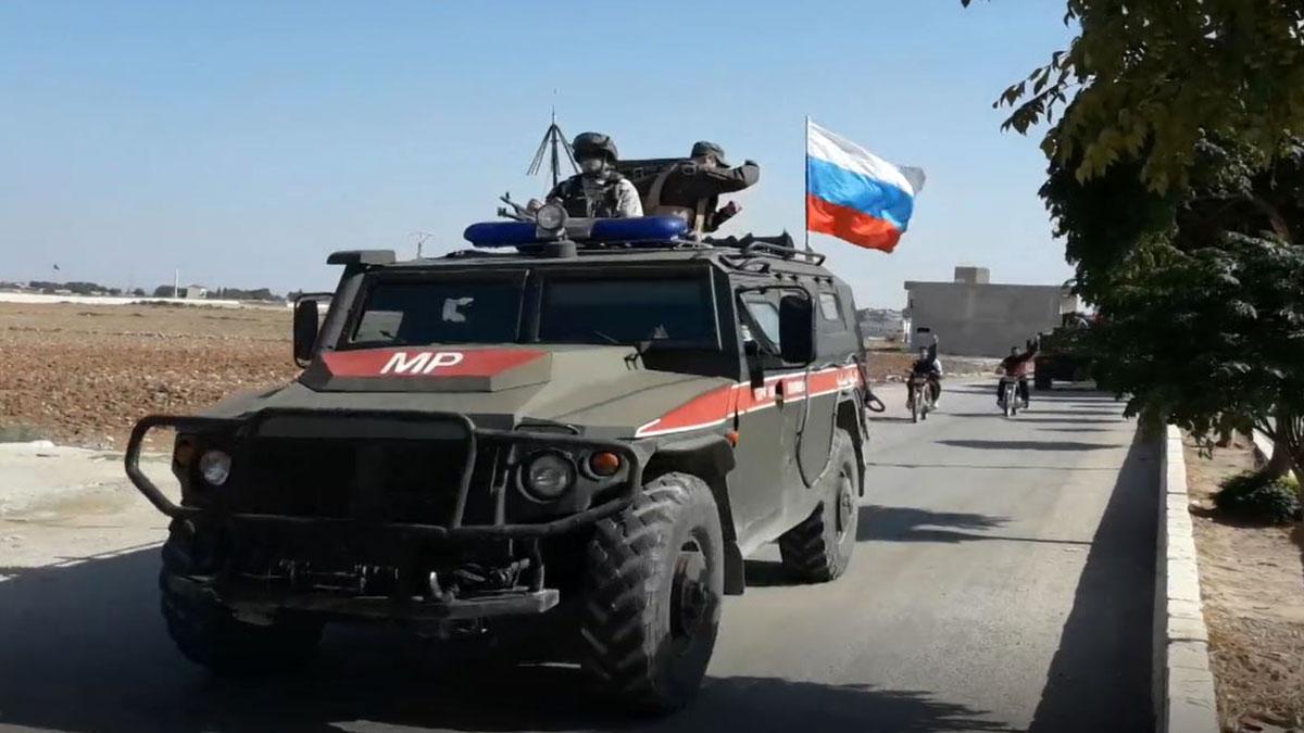 Бронемашина Российской военной полиции в Сирии