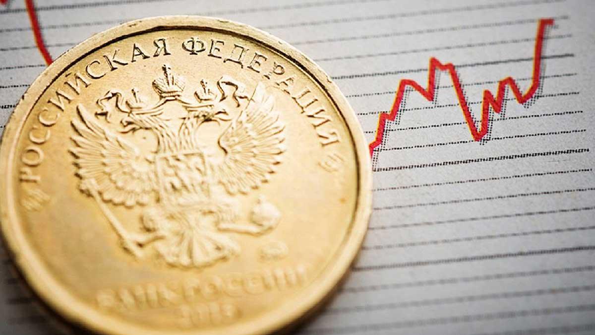 рост рубля график