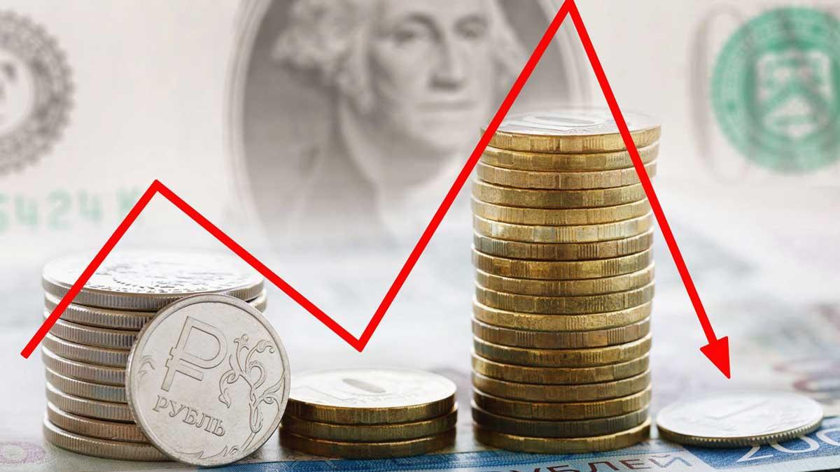 рубль график падение купюры