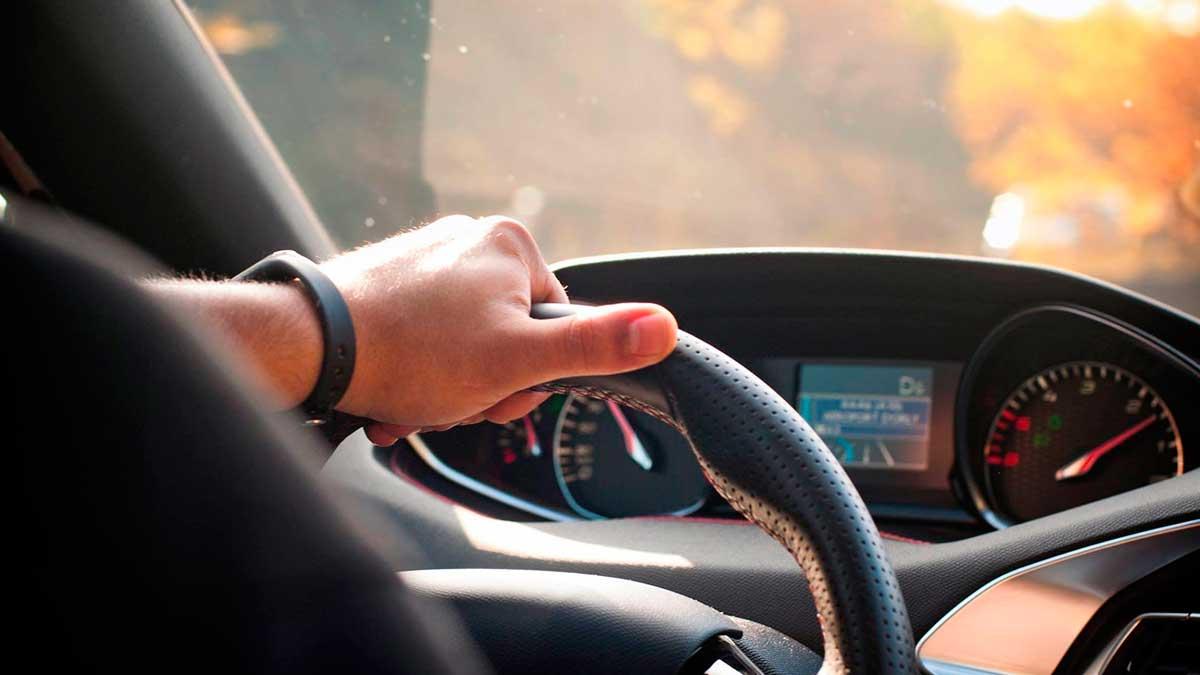 руль руки мужчина