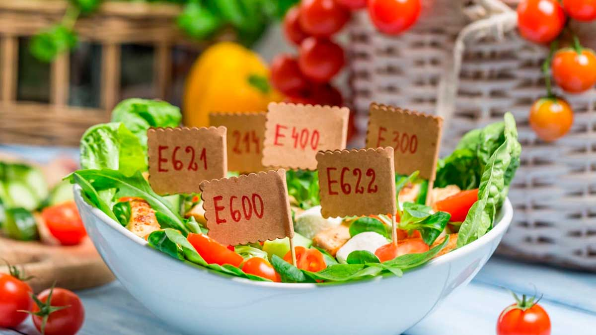 салат добавки E продукты