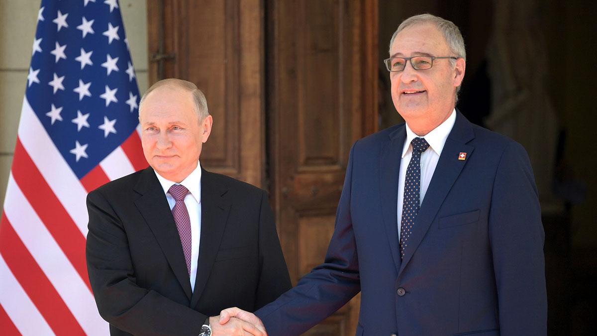 Владимир Путин и Ги Пармелен