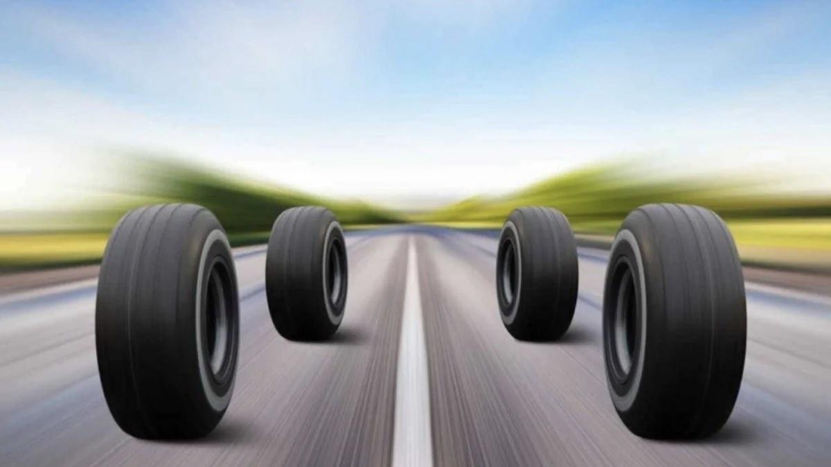 шины на дороге