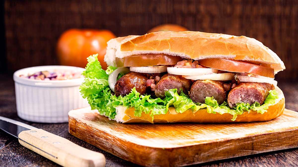 сосиска колбаса бутерброд