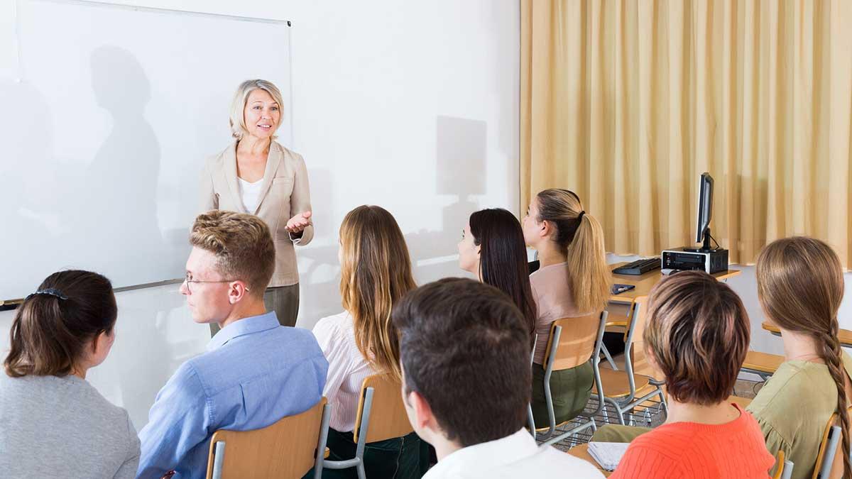 студенты лекция урок