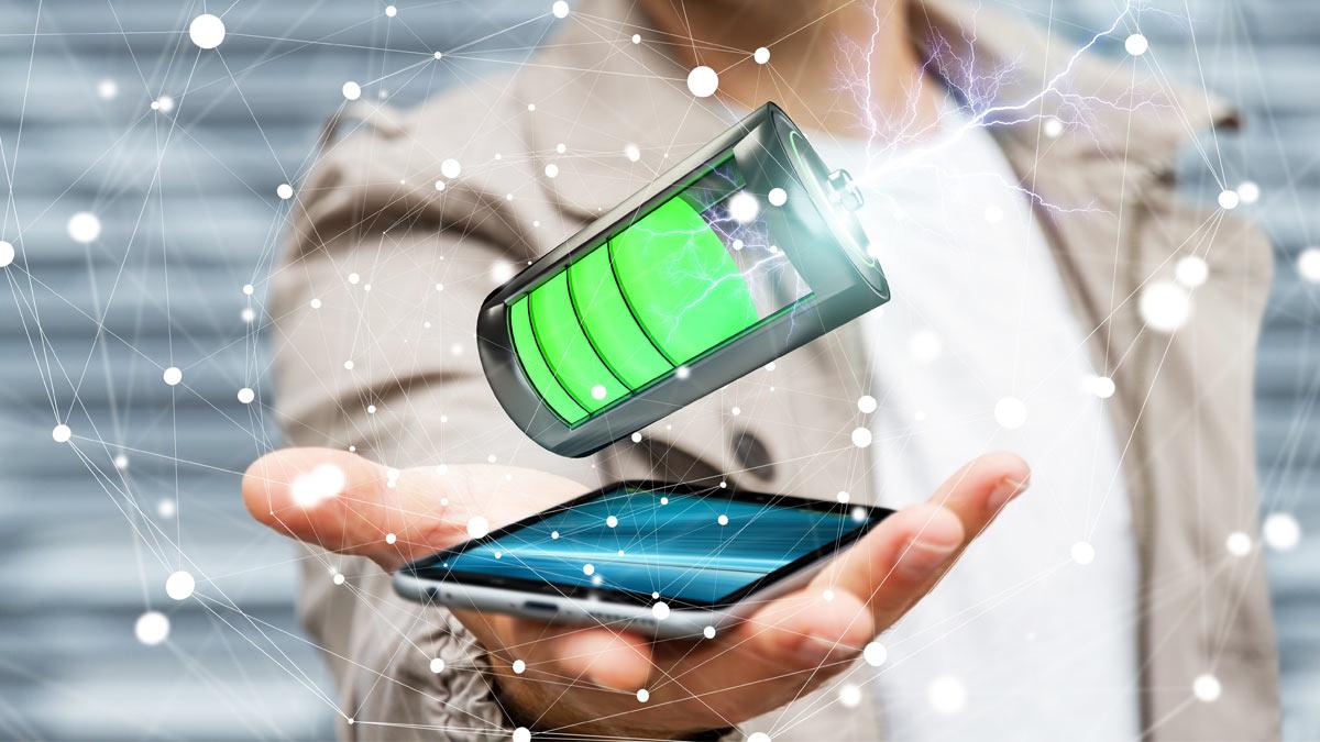телефон зарядка батарея рука мужчина