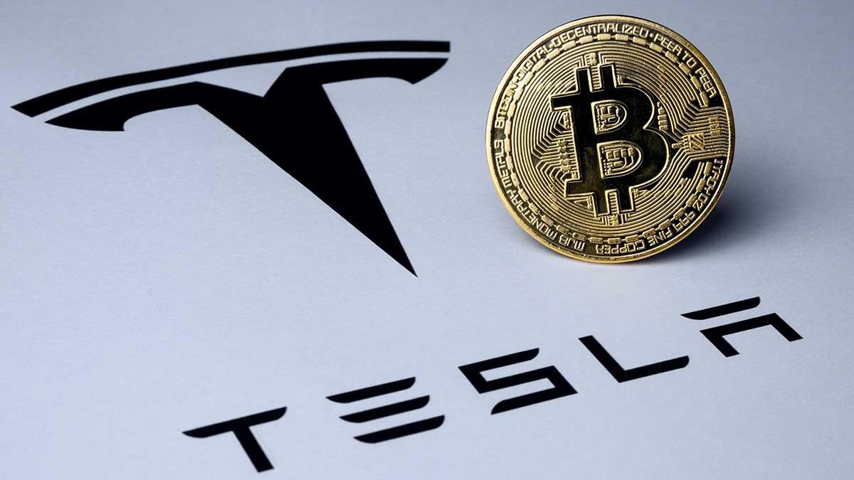 tesla bitcoin логотип