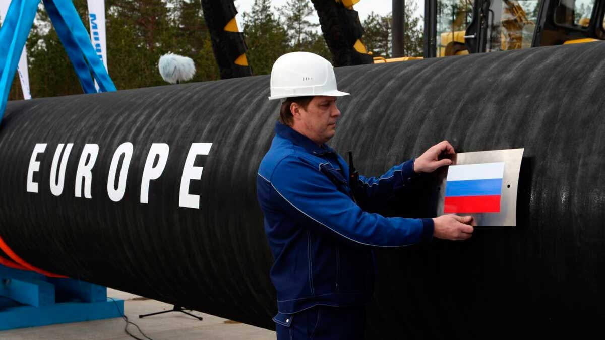 труба газ Европа мужчина