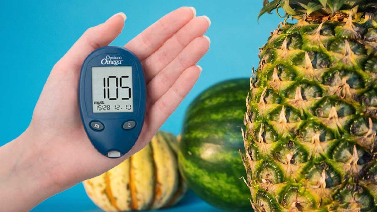 тыква ананас арбуз глюкометр рука