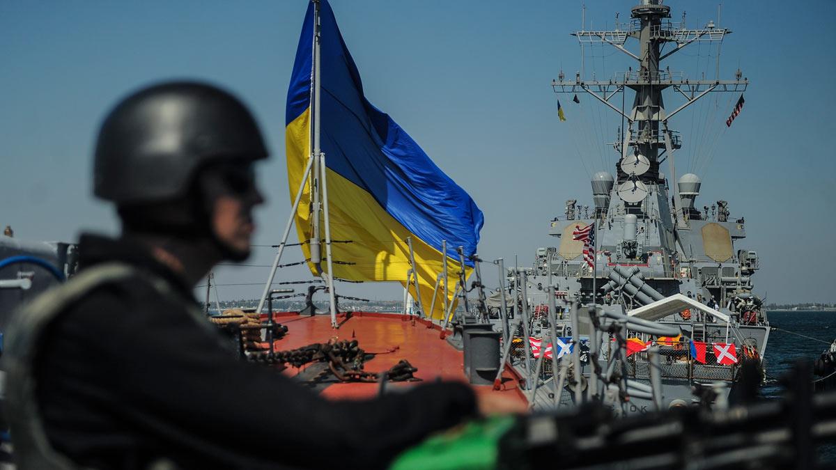 учения море корабли флаги