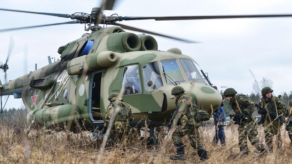 учения ВВС России вертолет солдаты