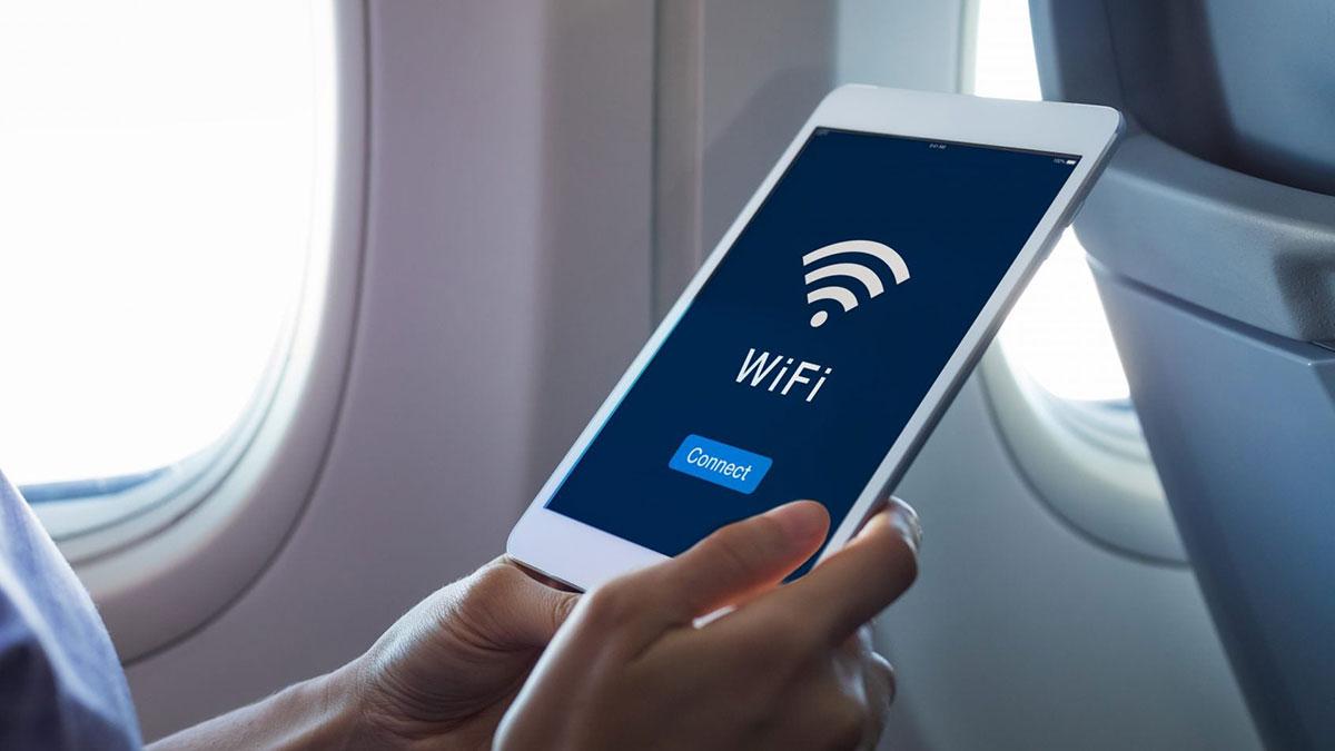 использование wifi на борту самолета