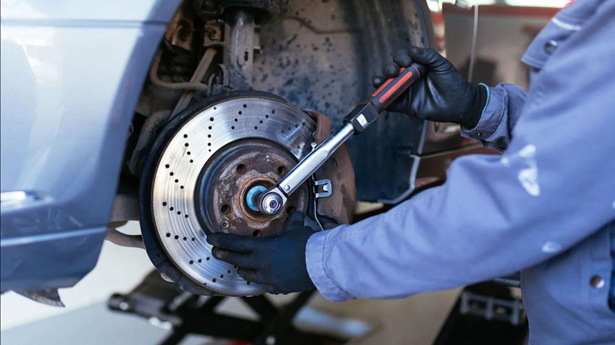 замена тормозных дисков ступица колеса